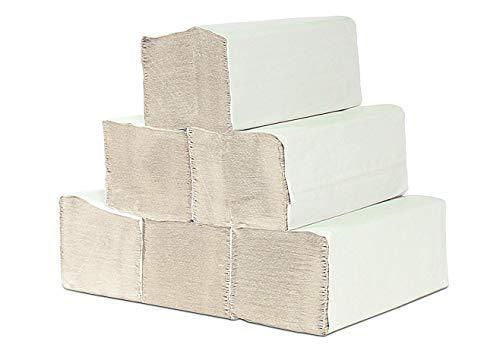 A&G-heute 10.000 Blatt 1-lagig 25 x 23cm ZZ-Falz Krepp Natur Papierhandtücher Handtuchpapier Premium Falthandtuch
