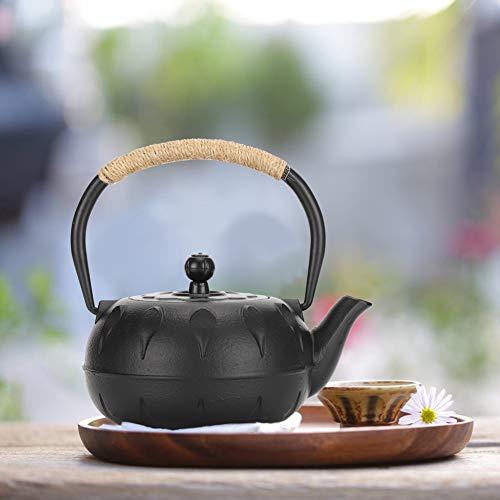 Gusseiserne Teekanne, 0,6 l Wasserkocher Vintage Imitieren im japanischen Stil Unbeschichtete Vintage Tea Ware Geschenkdekoration für Heimtextilien, Teehaus usw.