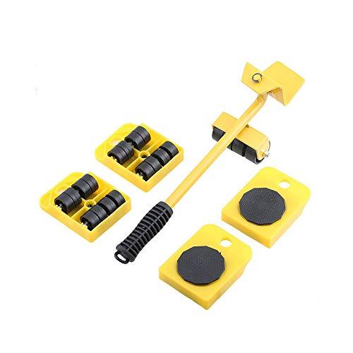 XLtools Pro Technik - Juego de 5 ruedas para levantar y mover muebles (150 kg)