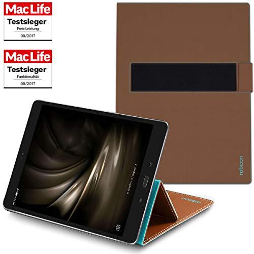 reboon Hülle für Asus ZenPad 3S 10 Tasche Cover Hülle Bumper | in Braun | Testsieger