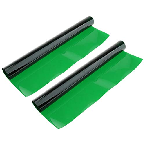 MagiDeal Filtro de Color de Geles de Papel de 40 * 50 Cm para Pelirrojo Claro Amarillo Fluorescente - Verde