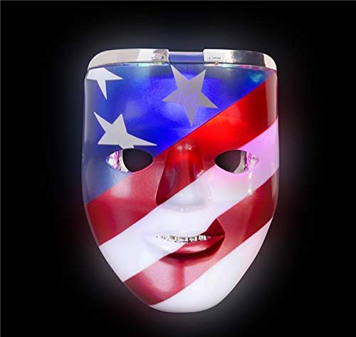 Why Choose DollarItemDirect 8 inches Light-Up Patriotic Double Mask, Case of 48