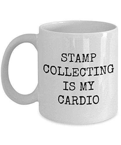 Briefmarkensammler Geschenk Briefmarken-Sammeltasse Philatelist Geschenk Stempel Sammeln ist My Cardio.