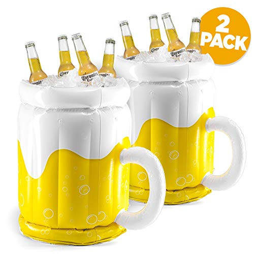 18' Birra Gonfiabile Secchiello per Il Ghiaccio Dispositivo di Raffreddamento della Birra Contenitore di Stoccaggio della Birra per La Festa in Piscina Bar sulla Spiaggia (Confezione da 2)