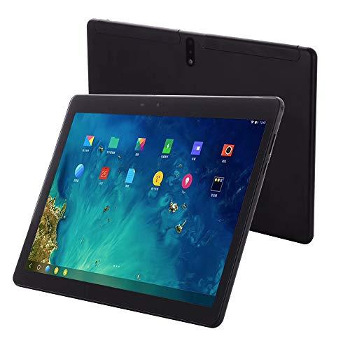 SUQIAOQIAO 4G HD Tablet PC portátil, 10.1 Pulgadas capacitiva Multi-Pantalla táctil IPS FHD 6000mAh batería de 5MP + 13 MP de Doble cámara de Doble SIM Ayuda GPS/GLONASS,Negro