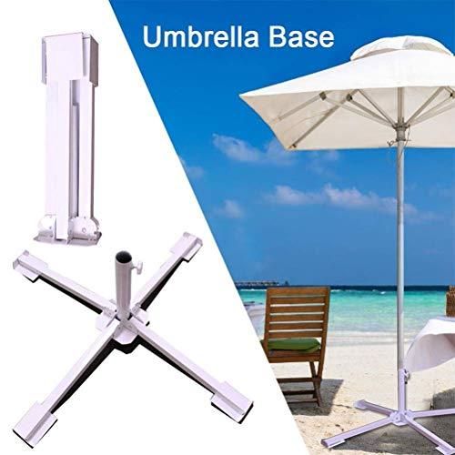 Peahop Support Pliable de Parasol, Support extérieur de Parapluie de Support de Patio de Parasol de Support portatif de Plage