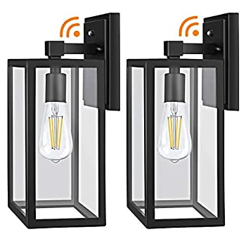 Dusk to Dawn Outdoor Light Fixtures Wall Mount Sensor Porch Lights Anti-Rust Wall Light Exterior Wall Sconce Lighting Wall Lamp Waterproof Wall Lantern for Doorway Garage 2-PACK  Bulb Included