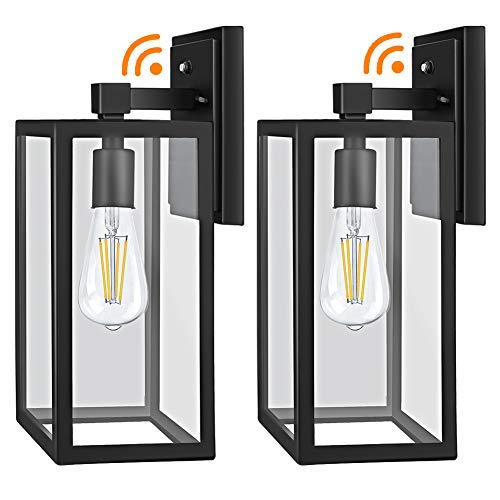 Dusk to Dawn Outdoor Light Fixtures Wall Mount, Sensor Porch Lights, Anti-Rust Wall Light, Exterior Wall Sconce Lighting, Wall Lamp, Waterproof Wall Lantern for Doorway, Garage, 2-PACK (Bulb Included)