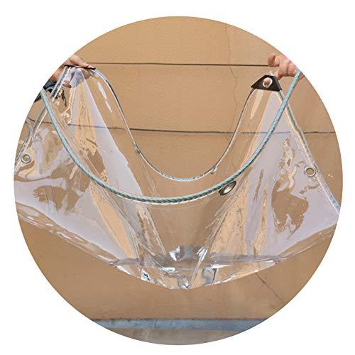 ALGFree Transparente Prueba de Lluvia Exterior Lonas, Invernadero Impermeable Toldo Vegetal Lona Alquitranada Al Aire Libre Balcón Plástico PVC Puñetazos Impermeable a Prueba de Polvo Lona