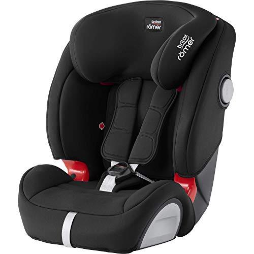 BRITAX RÖMER Silla de coche EVOLVA 1-2-3 SL SICT, con protecciones laterales, niño de 9 a 36 kg (Grupo 1/2/3) de 9 meses a 12 años, Cosmos Black 🔥
