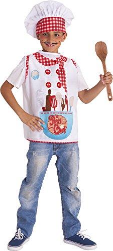 Rubies-S8400-M Le Petit Chef - Disfraz impreso para niños, M (5-6 años)