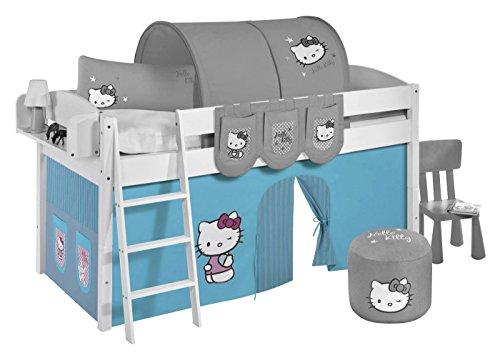 Lilokids Vorhang Hello Kitty Türkis - für Hochbett, Spielbett und Etagenbett