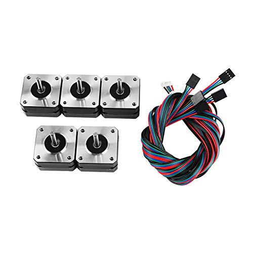 CoCocina 5Pcs 17Hs4023 424223Mm Stepper Motor with Cable for 3D Printer Part