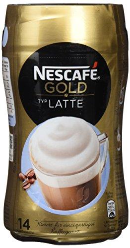 Nescafé Gold Typ Latte löslicher Bohnenkaffee (aus erlesenen Kaffeebohnen, koffeinhaltig, mit extra viel Schaum) Dose (1 x 250g)