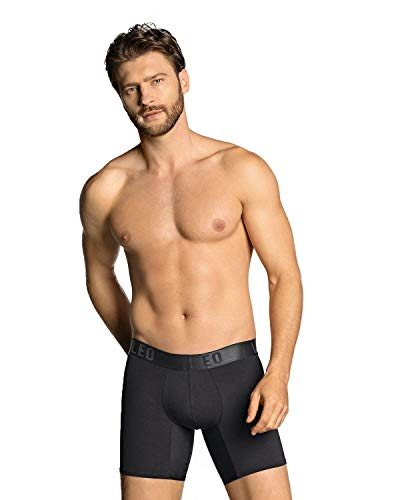 LEO Push Up Boxer, Schwarz XL