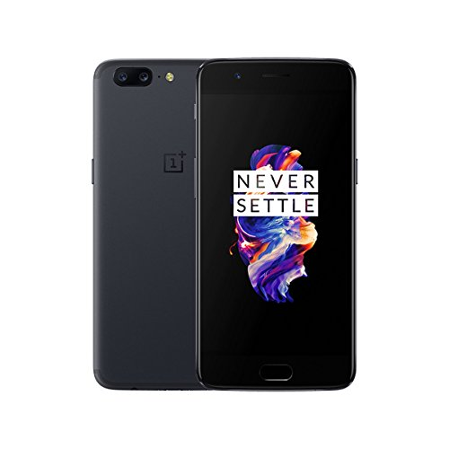 "OnePlus 5 A5000 64GB Slate Grey, 5.5"", 6GB RAM, Dual Sim, GSM Unlocked International Model, No Warranty"