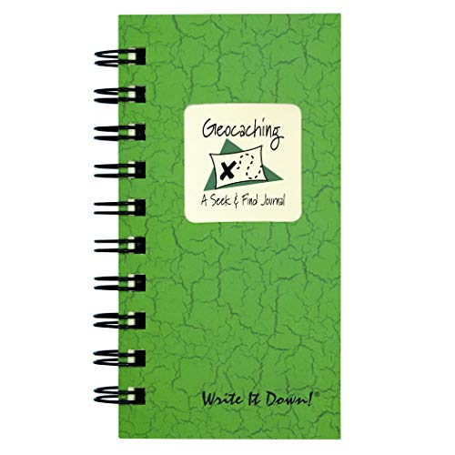 "Journals Unlimited ""Write it Down!"" Series Guided Journal, Write It Down, Geocaching, A Seek & Find Journal, Mini-Size 3�x5.5�, with a Green Hard Cover, Made of Recycled Materials"