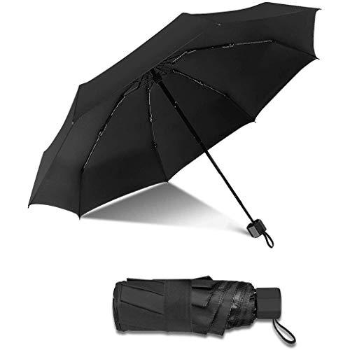 FreeL Mini Paraguas Sombrilla,Opaco Sombrilla Plegable Negra, Liviana y Portátil, Uso Diario, Transporte de Viaje ,protección UV