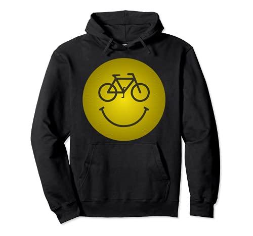 Camicia da bicicletta Smiley, MTB, Ciclista divertente Felpa con Cappuccio