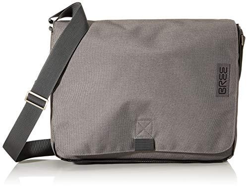 BREE Unisex-Erwachsene PNCH Style 49 Messenger Bag Umhängetasche, Grau (Grey Denim), 8x28x38 cm