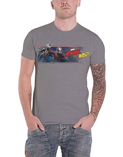 Ant Man And The Wasp T Shirt Movie Banner Nuovo Ufficiale Marvel Comics Uomo Size S