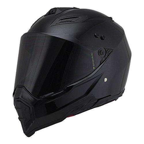 Woljay Dual Sport Off Road Motorcycle helmet Dirt Bike ATV D.O.T certified (L, Black)