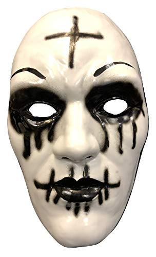 UK The Purge Original Kreuz Deluxe Halloween Hartplastik Mask mit Elastischer Gurt From The Anarchy Film