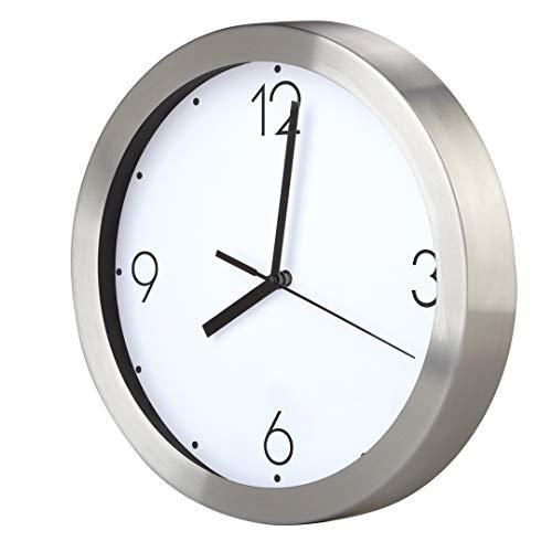 Promo Shop Gran Reloj de Pared Personalizado (con Logo, Foto o Imagen) · Carcasa de Aluminio Cepillado (Esfera B) · Mecanismo Silencioso · Reloj Cocina Pared con 4 Números · Incluye Caja Regalo