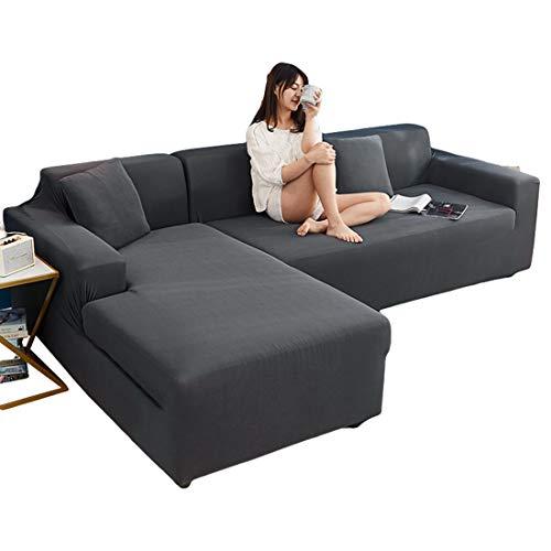 Bverionant Funda de Sofá Chaise Longue Elástica Proteger Cubre Sofá Estampada Moderna Acolchado para Mascotas Casa #4 2 Asientos 145-185cm