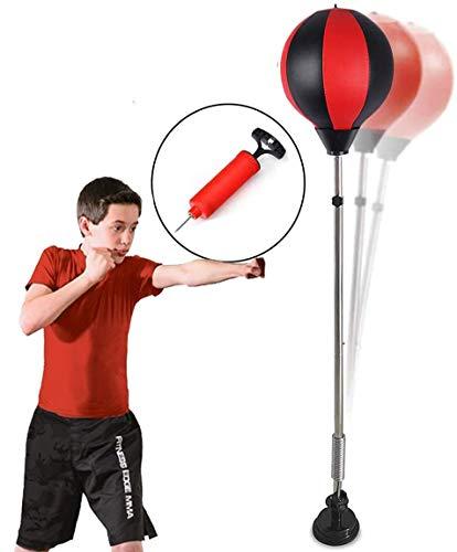 Punchingball Standboxsack Boxsack Set Höhenverstellbar Sandsäcke Punchingbälle Boxen Boxstand Punching Stand Punchingball Set mit Pumpe für Einsatz im Fitness-Studio sowie zu Hause (Saugnapf)