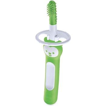 rosa con anello di sicurezza MAM Baby/'s Brush Spazzolino in set da 2 6+ mesi impugnatura corta specifica per denti da latte