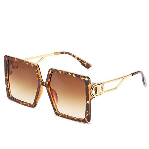 Caja Gafas de sol Personalidad europea y estadounidense Big Frame Glasses Moda degradado Lente UV400 Moda Moda Aire Libre Sombrilla (Color : B)