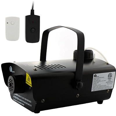 1byone OUKQL-0042 Mini 400 W 500 ml 2000 CFM Fog Machine with Wireless Remote Control