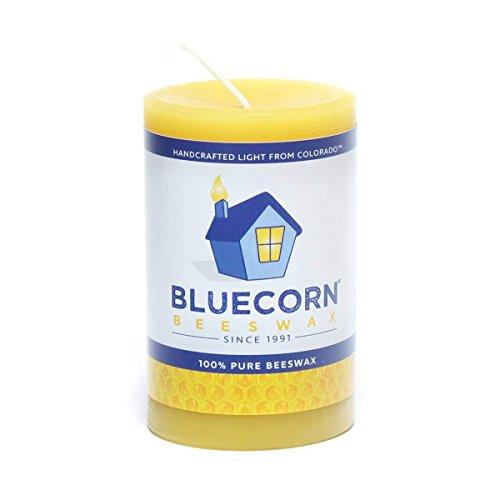 Bluecorn Beeswax 100% Pure Raw Beeswax Pillar: 2quotx 3quot