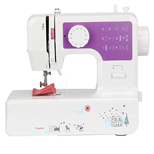 Best Beginner Sewing Machine   Portable Sewing Machine   Mini Sewing Machine  12 Built-in Stitches   Black   Best Sewing Machine English Manual   with Pedals for Beginners with Light