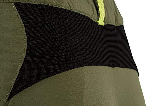 SILVINI Alma MTB - Pantalón Corto para Mujer con Corte formulario, Cintura Alta y Cremallera, Verde, Extra-Large