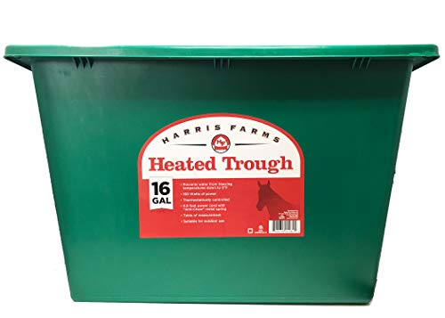 Harris Farms Heated Trough for Horses, 16 Gallons