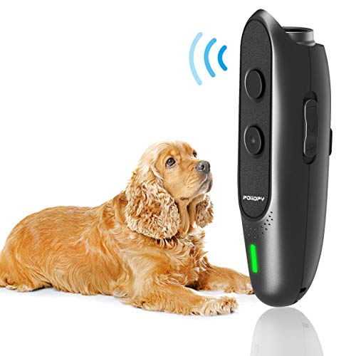 Anti Bark Device for Dog-Variable Frequency Ultrasonic Dog Bark Deterrent Rechargeable 2 in 1 Dog Barking Control Device Handheld Dog Training Tool Barking Behavior Trainer 16.4 Ft Range 100% Safe