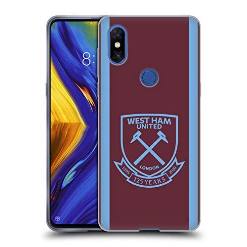 Head Case Designs Licenza Ufficiale West Ham United FC Home 2020/21 Kit Crest Cover in Morbido Gel Compatibile con Xiaomi Mi Mix 3