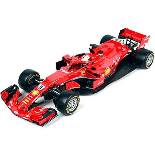 XIAORANA 2017 Ferrari F1-5 Racing Modelo 1:18, Kit De Aleación De Coche Modelo De Fundición A Presión, Adecuado para...