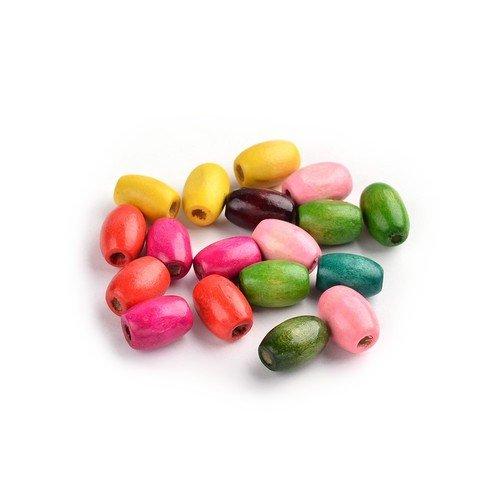 Bois Perles Mixte-Couleur Riz 8 x 12mm Paquet De 150+