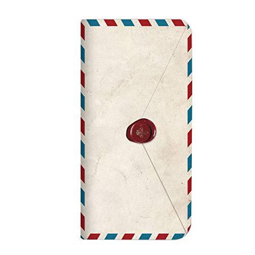 mitas iPhoneSE 第2世代 ケース 手帳型 ベルトなし 手紙 封筒 切手 C (249) NB-0231-C/iPhoneSE_2020