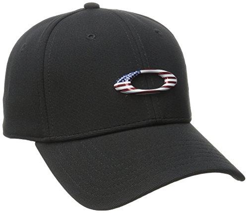 Oakley Mens Men's Tincan Cap, Black/American Flag, L/X-Large