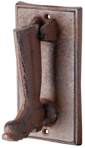 Esschert Design Türklopfer Stiefelmotiv, braun, 8.4 x 9.5 x 15.9, DB54