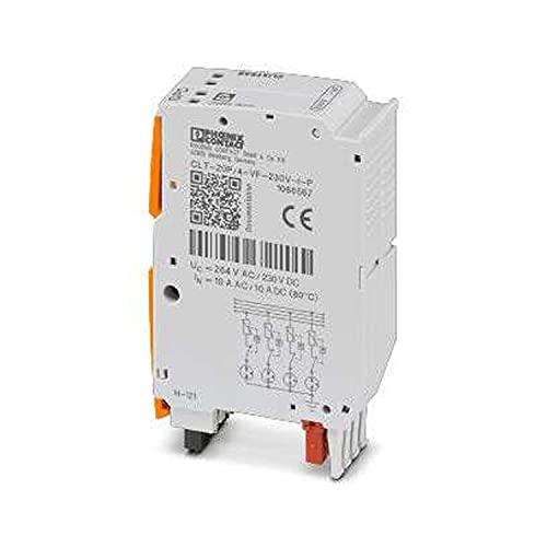 PHOENIX CONTACT CLT-20P/4-VF-230V-I-P - Enchufe de protección contra sobretensión con indicador de estado integrado en el módulo, 20,6 de ancho, 230 V CA tensión nominal