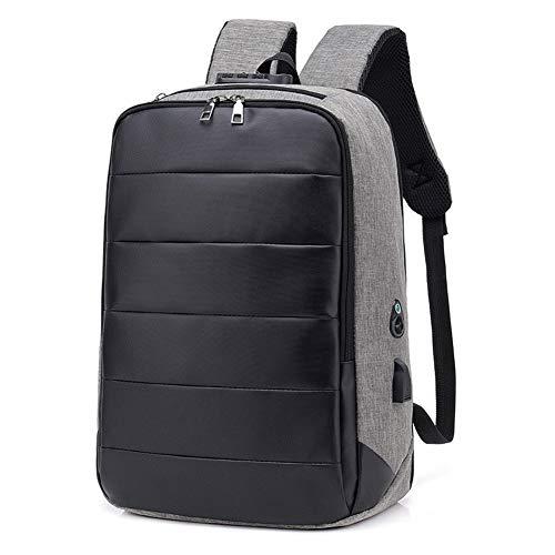 Glqwe Laptop reizen rugzak, Anti-diefstal solide zakelijke laptop tas usb slimme oplader rugzak schoudertas met hoofdtelefoonaansluiting