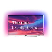 Philips Ambilight 50PUS7304/12 Fernseher 126 cm (50 Zoll) Smart TV (4K, LED TV, HDR 10+, Android TV, Google Assistant, Alexa kompatibel, Dolby Atmos) Hellsilber©Amazon