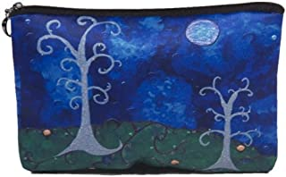 Cosmetic Bag, Zipper Pouch - Zip-top Closer - Taken From My Original Paintings - Animals (The Couple - Trees)