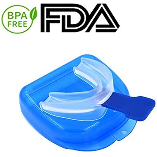 KY Schnarchen Stopper Schnarchen Relief Mundschutz for Zähneknirschen und Schnarchen stoppen, 2-in-1-Schnarcher-Stopper-Mundstück Hilfe for Erwachsene Frauen Männer Schlaf