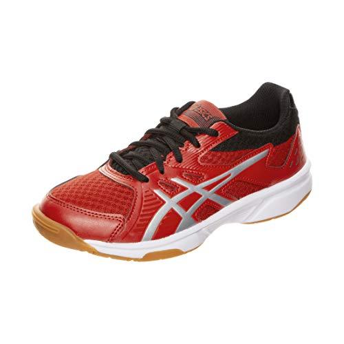 ASICS Unisex Upcourt 3 Gs Leichtathletik-Schuh, Klassisches Rotes Reines Silber, 36 EU